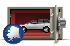 alaska map icon and the concept of secure car storage