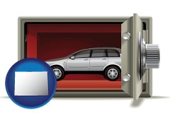 colorado map icon and the concept of secure car storage