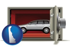 delaware map icon and the concept of secure car storage