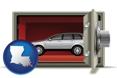 louisiana map icon and the concept of secure car storage